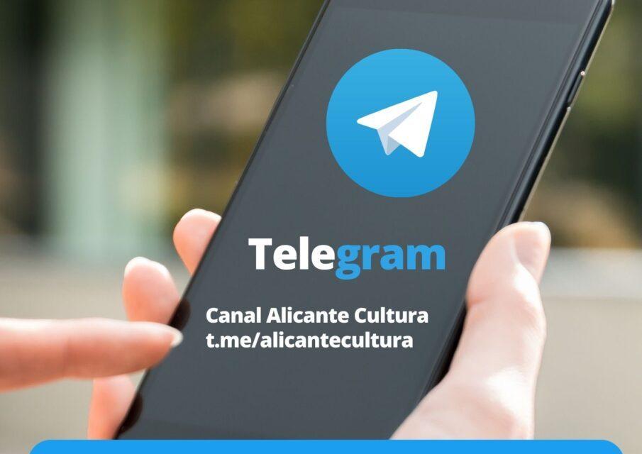La Regidoria de Cultura d'Alacant activa el servei de missatgeria Telegram per a augmentar la relació directa amb els seus seguidors