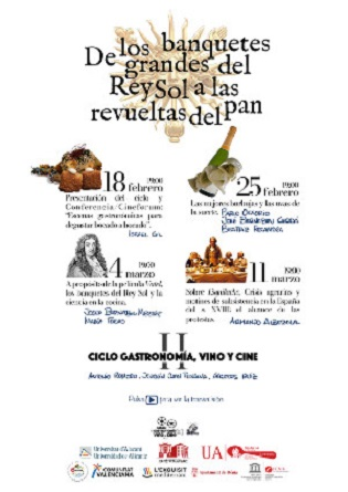 Arranca una nueva edición del Ciclo Gastronomía, Vino y Cine en la Sede Universitaria Ciudad de Alicante