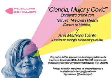 """La Asociación Huellas Borradas de Mujer organiza el encuentro online """"Ciencia, Mujeres y COVIDˮ"""