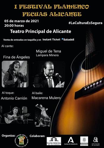 """Nou horari per al """"I Festival de Flamenco Fecuas Alicanteˮ"""