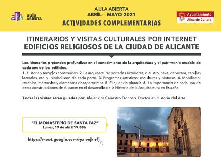 Visites culturals online a 3 edificis religiosos d'Alacant