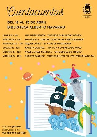 La Concejalía de Cultura de Elda celebra el Día del Libro con una semana de cuentacuentos en Elda y la entrega de libros gratuitos