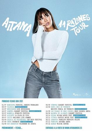 "Aitana presenta su gira ""11 Razones Tour"" en Alicante"