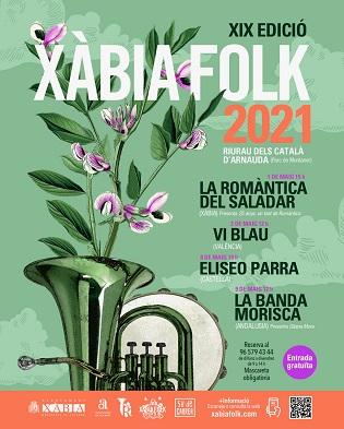 Eliseo Parra, Vi Blau, La Banda Morisca i la Romàntica del Saladar protagonitzen el festival XàbiaFolk 2021