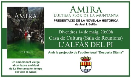 Justo I. Sellés presenta a l'Alfàs la seua novel·la històrica 'Amira, l'última flor de la Muntanya'