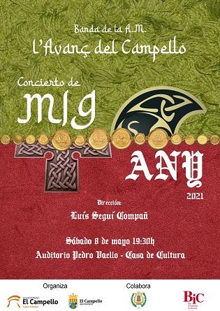 El dissabte, concert del Mig Any de l'Agrupació Musical L'Avanç a l'auditori de la Casa de Cultura de El Campello