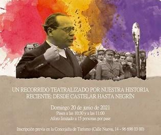 L'Ajuntament d'Elda recupera el pròxim 20 de juny la ruta turística teatralitzada 'Les Veus de la República'
