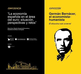 La Universidad de Alicante acoge la exposición «Germán Bernácer, el economista-humanista alicantino más universal»