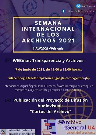 L'Arxiu de la Universitat d'Alacant exhibeix els seus continguts en la Setmana Internacional dels Arxius