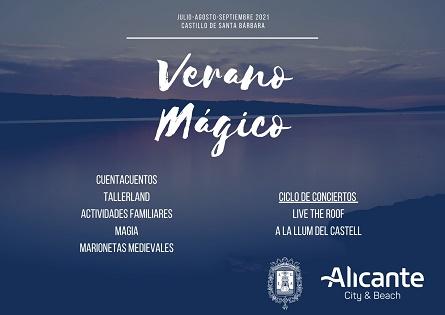 """Alicante presenta la programación de """"Verano Mágico"""" en el Castillo de Santa Bárbara"""
