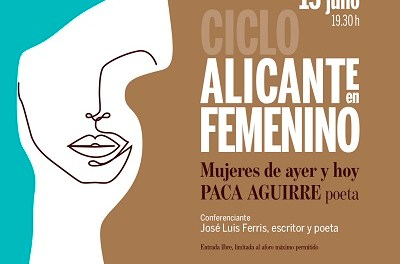 Una conferencia sobre Paca Aguirre inaugura el nuevo ciclo del Instituto Juan Gil-Albert dedicado a la mujer