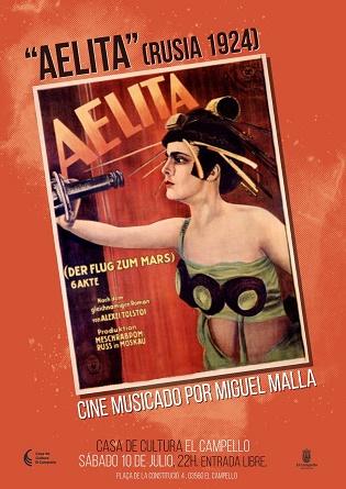 Proyección de cine con música en directo de la mano de Miguel Malla en El Campello