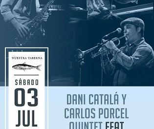 Dani Catalá i Carlos Porcel Quintet amb Joan Saldaña en concert aquest dissabte a El Campello