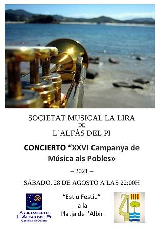 La Sociedad Musical La Lira clausura este sábado Estiu Festiu con un concierto en la playa de l'Albir