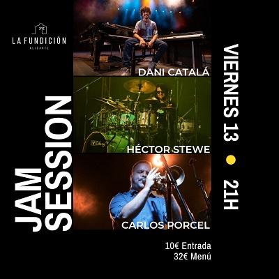Jam Session con Dani Catalá, Carlos Porcel y Héctor Stewe este viernes en La Fundición