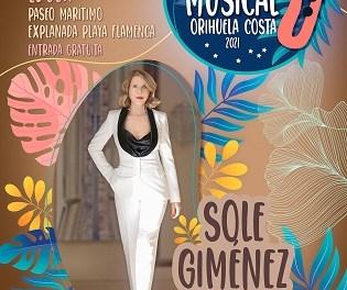 La cantante y compositora Sole Giménez actuará, con entrada gratuita, este sábado en Playa Flamenca de Orihuela
