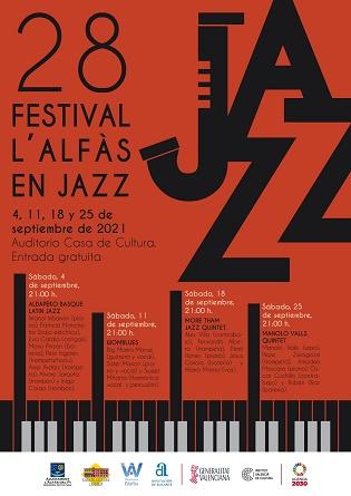El próximo sábado se inicia el 28 Festival L'Alfàs en Jazz