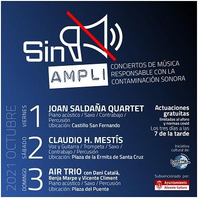 """Este fin de semana disfruta de """"Sin Ampli"""", un ciclo de conciertos de música responsable con la contaminación sonora"""