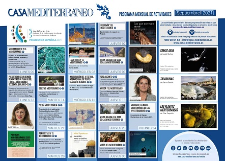 Casa Mediterráneo retoma la presencialidad en su programa de actividades de septiembre