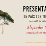 """Presentación de la novela """"Un país con tu nombre"""" de Alejandro Palomas"""