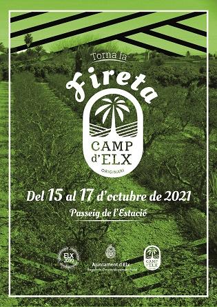 La Fireta del Camp d'Elx vuelve con su décima edición al Paseo de la Estación del 15 al 17 de octubre