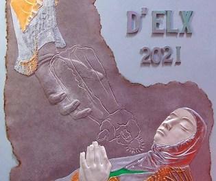 José Fuentes representa la unión del alma y cuerpo de la Virgen en el cartel del Misteri de 2021