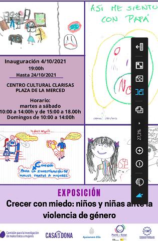 Los dibujos realizados por niños y niñas víctimas de violencia de género protagonizan una exposición en Las Clarisas de Elche