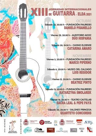 Les Jornades Internacionals de Guitarra d'Elda celebren la seua edició número 13 reprenent els concerts amb públic