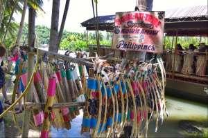 Floating restaurant loboc riverwatch bohol bow and arrow