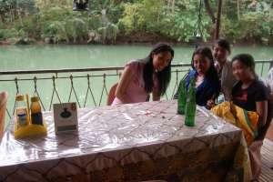 Floating restaurant loboc riverwatch bohol happy guests3