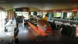 Floating restaurant loboc riverwatch bohol inside the boat