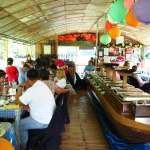 Floating restaurant loboc riverwatch bohol inside the boat2