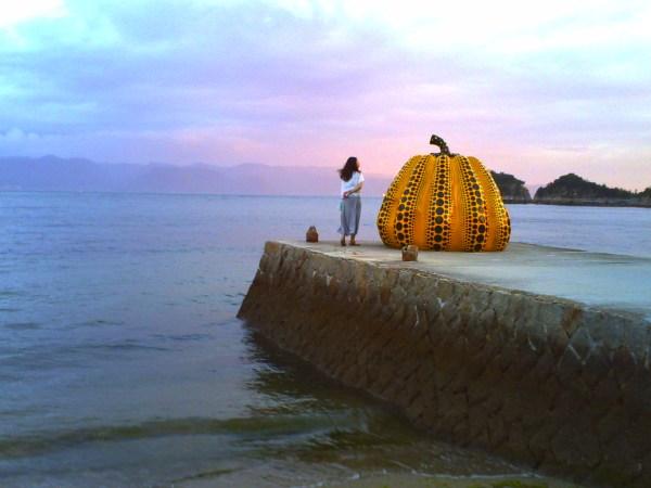 Naoshima Yayoi Kusama pumpkin
