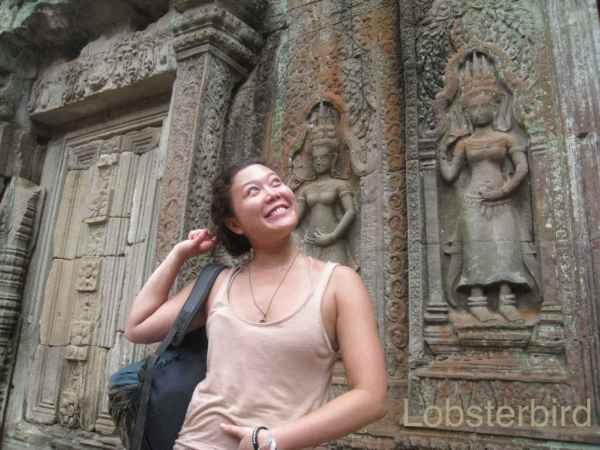 Bambina in Cambodia