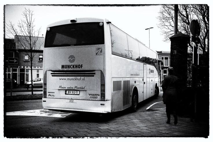 Refugees leaving Haarlem for their next step to get an official status.