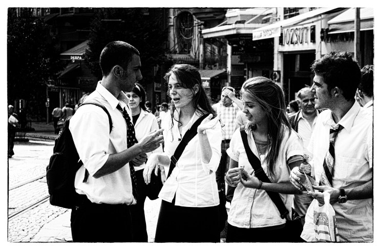 Students in Istanbul, debating
