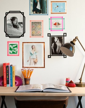 Washi-tape-wall-frames