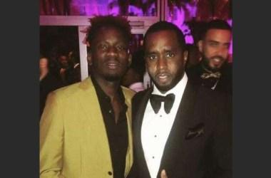 Mr. Eazi Strikes Pose With Diddy, Drake, Femi Otedola, Black Panther Star & Others