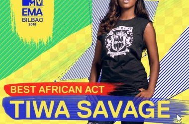 Tiwa Savage Becomes First Female Artiste to Win 'Best African Act'