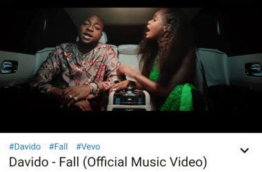 Davido's 'Fall' Becomes The First Nigerian Music Video To Hit 100 Million