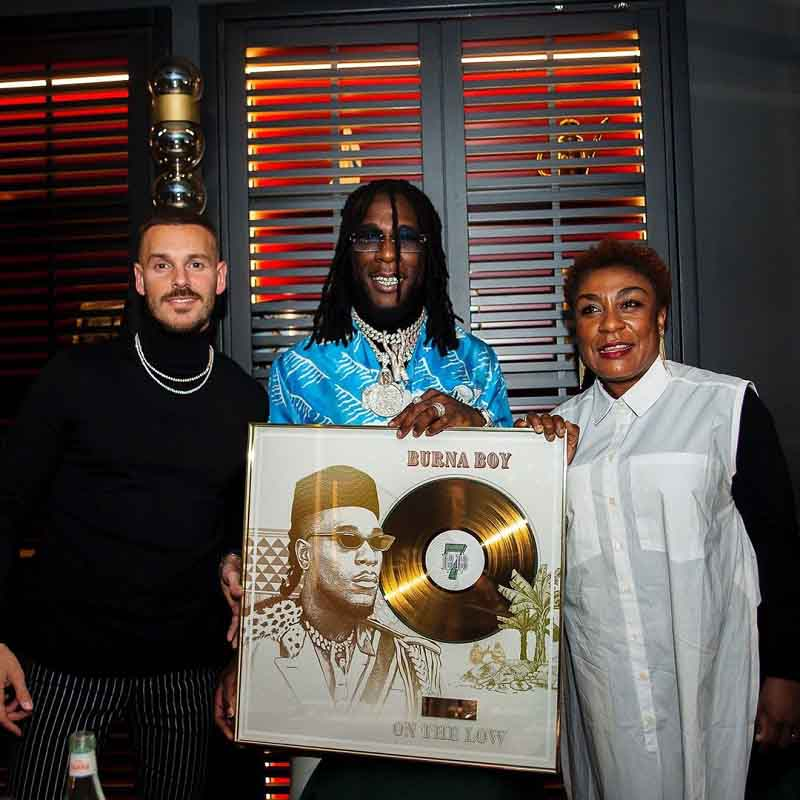 Burna Boy's On The Low Song Went Gold in France