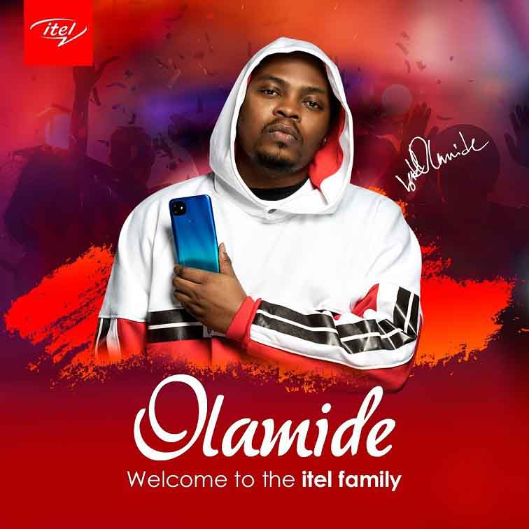 "Olamide Signed As Brand Ambassador by ""itel"""