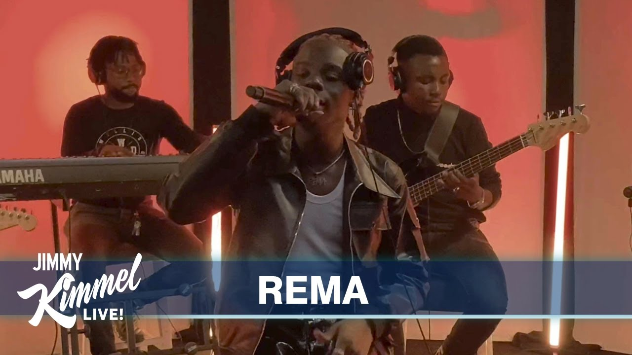 Watch Rema Performs 'Iron Man' On Jimmy Kimmel Live!