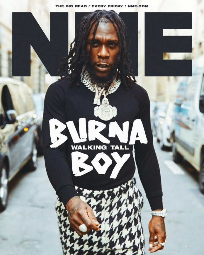 Burna Boy Is Walking Tall As He Covers NME Magazine's August Issue