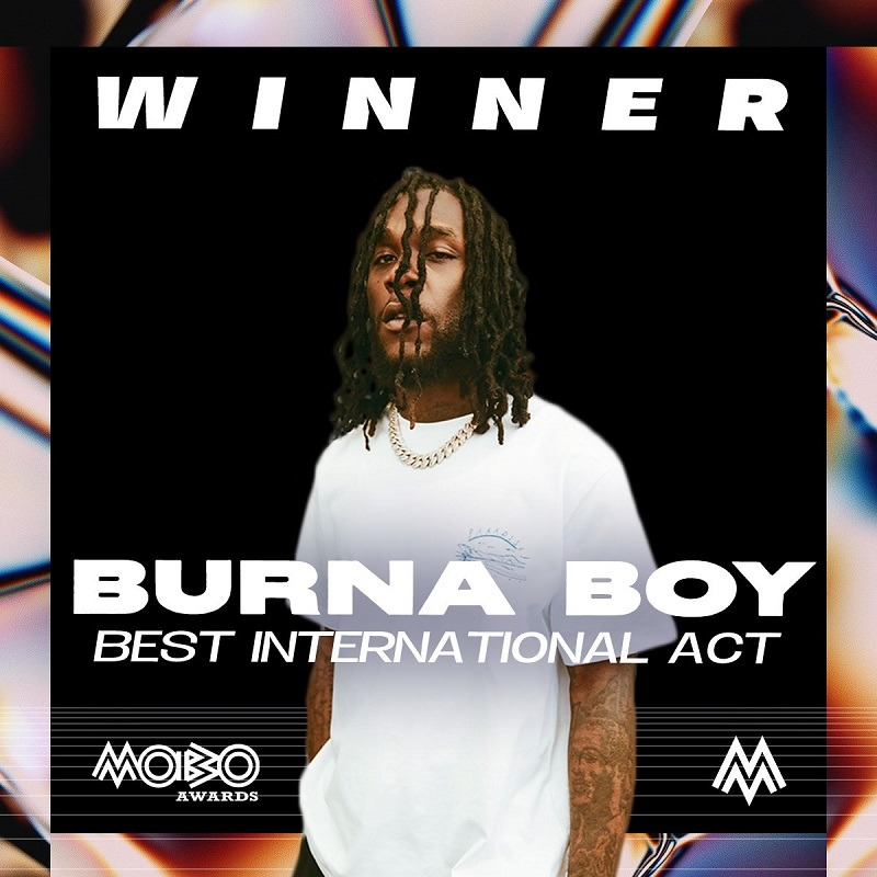 Burna Boy Bags Best International Act at 2020 MOBO Awards