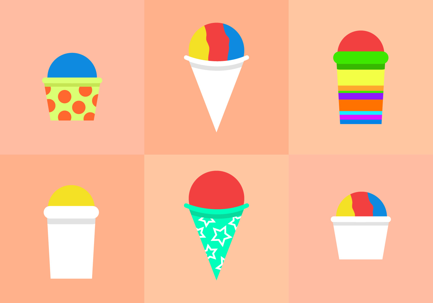 hight resolution of snow cone clipart