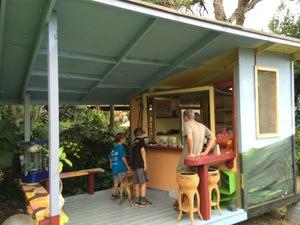 Snacking at the mac shack at Joe