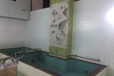 男湯側は、「滝と鯉」の墨絵です。