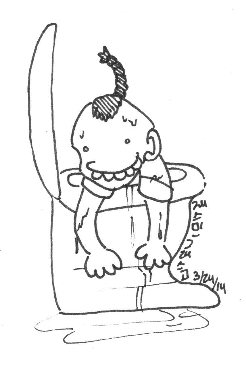 Free coloring pages of toilet