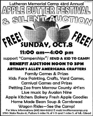 Apple Butter Festival & Silent Auction, Lutheran Memorial Camp